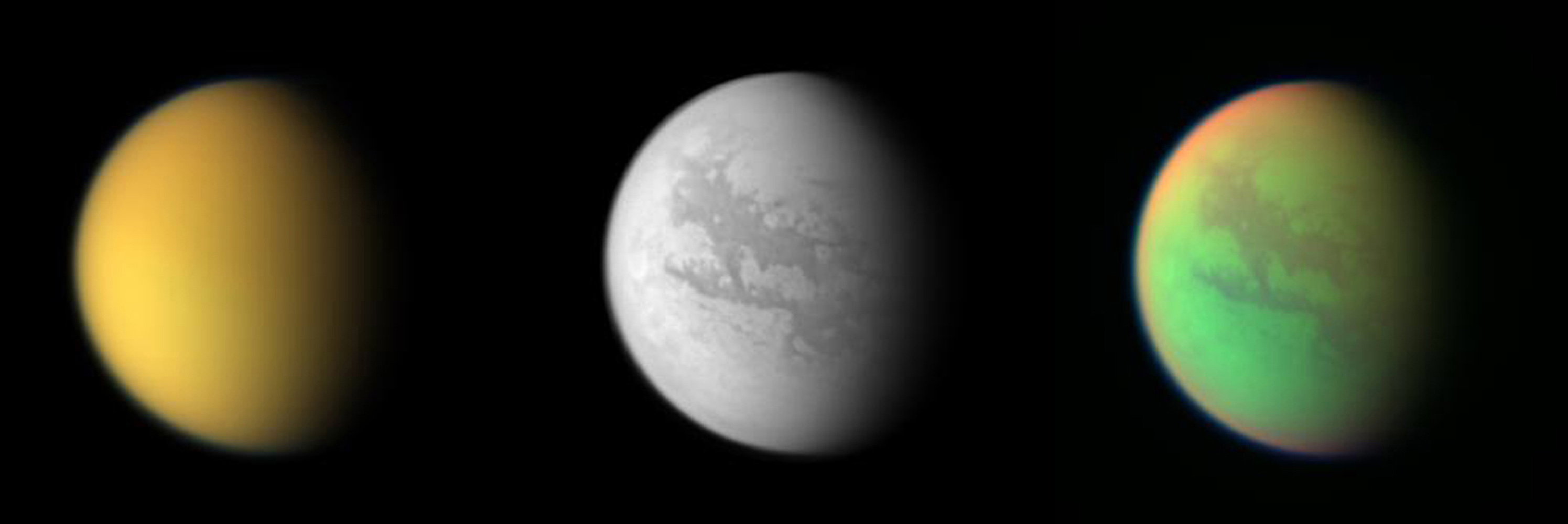 Cassini's Three Views of Titan