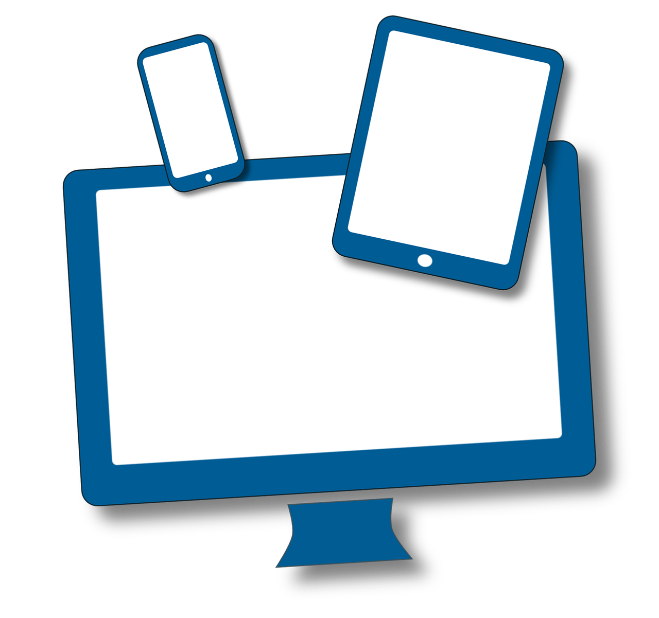 clip art of desktop, laptop and mobile device