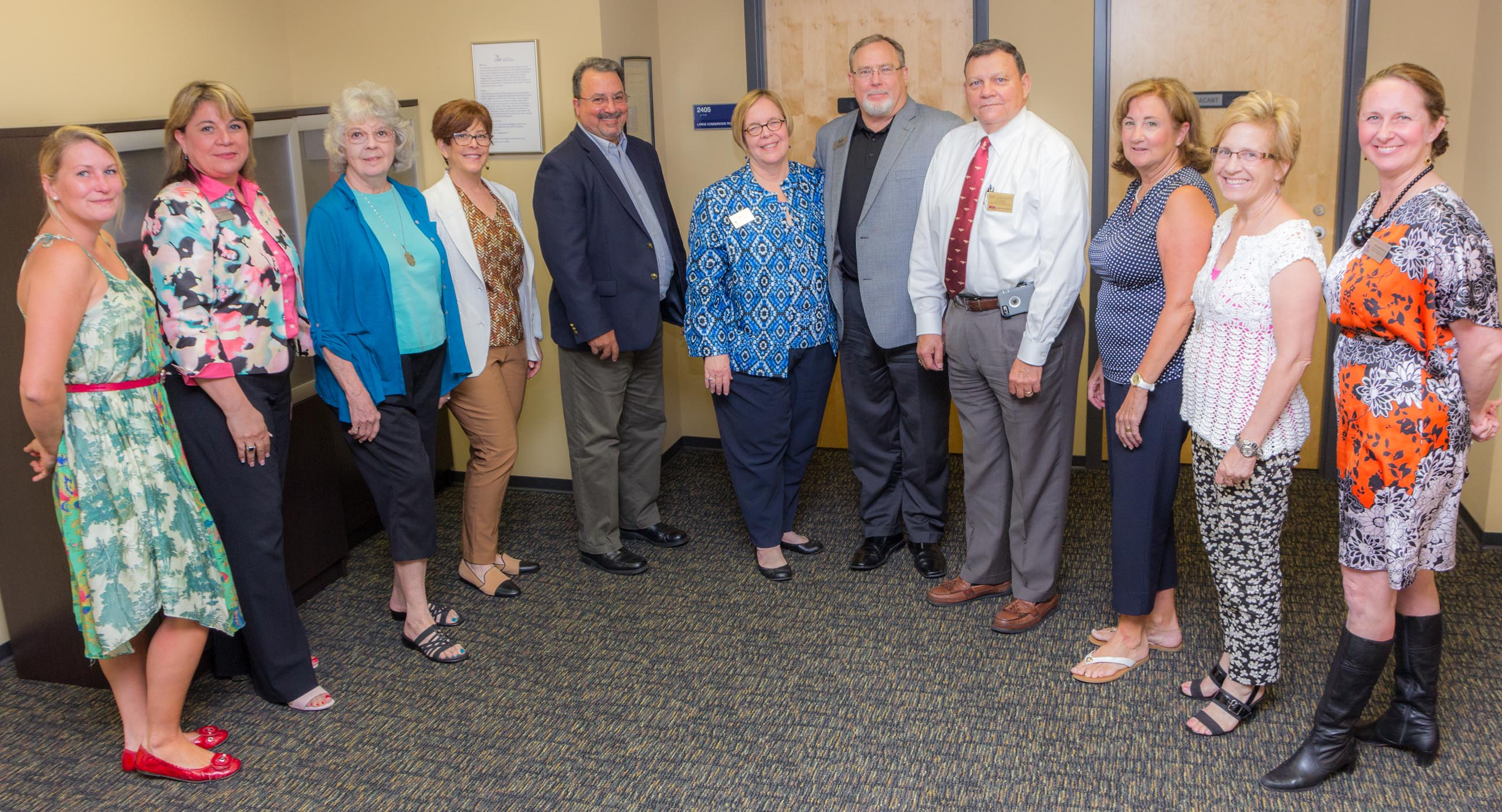 Members of the UNF Library Dean's Council: Leigh-Ann Sullivan, Dr. Lisandra Carmichael, Evelyn McDonald, Sharon Goldman, Frank Vastola, Dr. Elizabeth Curry, John Irvin, Andre Boutte, Phyllis Andruszkiewicz, Jennifer Wolfe & Jen Murray