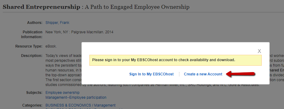 Sign in or create an EBSCO account to download an eBook