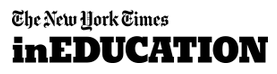 The logo of the New York Times in Education
