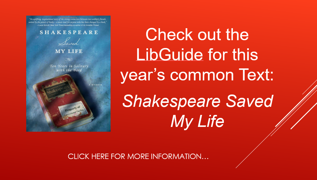 link to the Shakespeare saved my life LibGuide