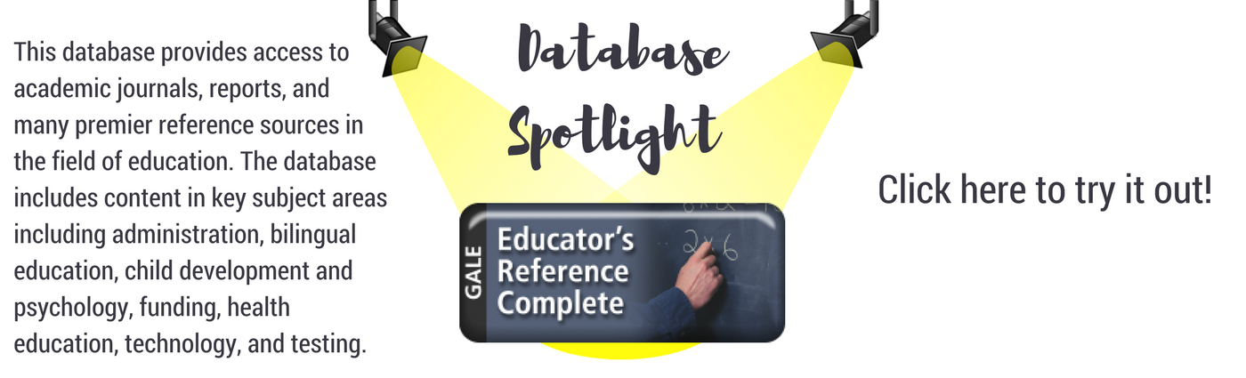 Database of the Month is Educator's Reference Complete