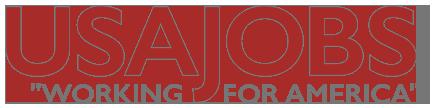 USA Jobs logo. Click on image to visit webpage.