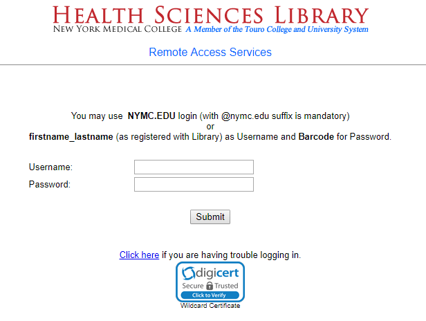 remote access login page