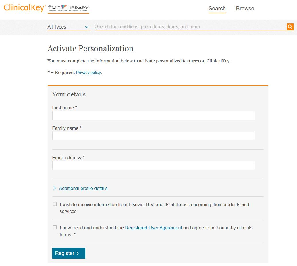 ClinicalKey - Activate Personalization