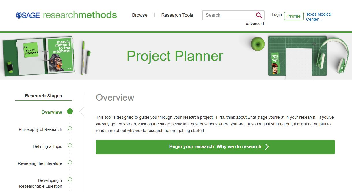 Sage Project Planner: Overview screen