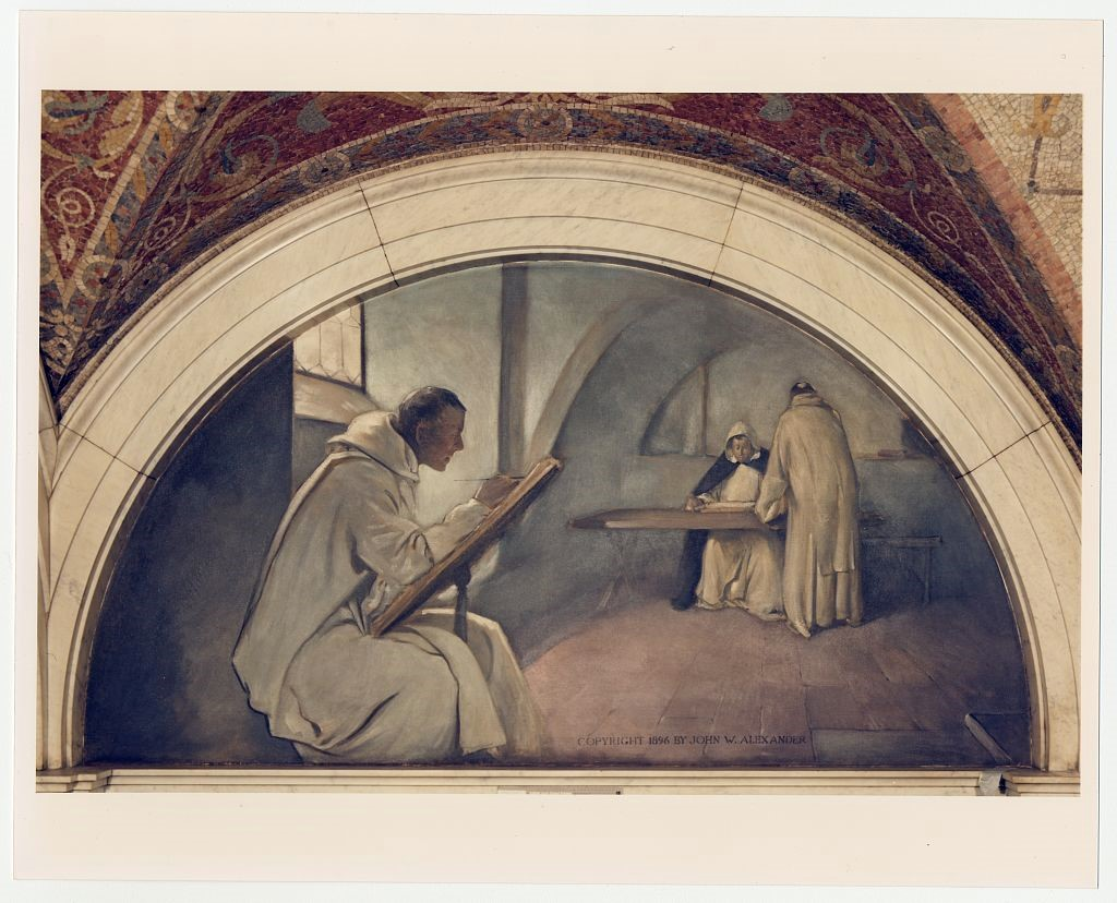 Third Floor: Manuscript Book Mural by John Alexander