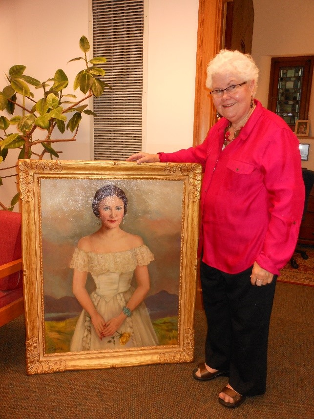 First Floor: Priscilla Rogers Portrait With Niece Priscilla Herbison