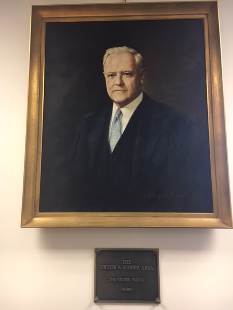 First Floor: Portrait of Victor F. Ridder