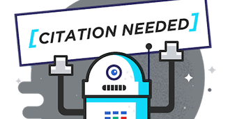 robot holding up sign saying citation needed