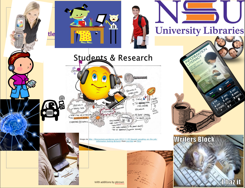 montage of student-researcher images