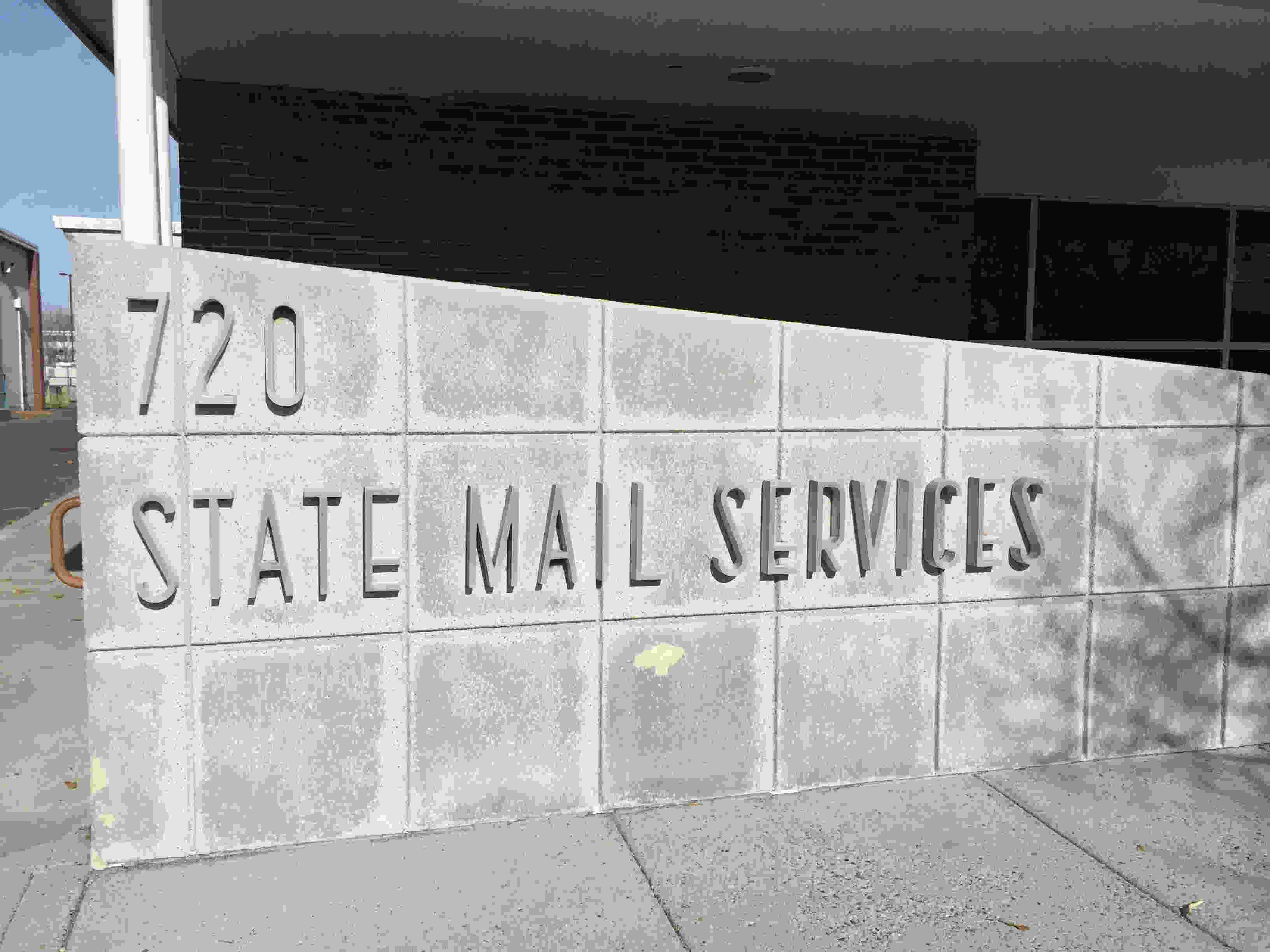 The front of the State Mail room