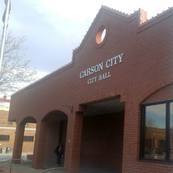 The front of the City Hall building in Carson City