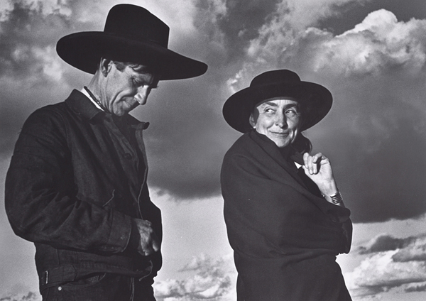 Ansel Adams: Georgia O'Keeffe and Orville Cox, Canyon de Chelly National Monument, Arizona, gelatin silver print