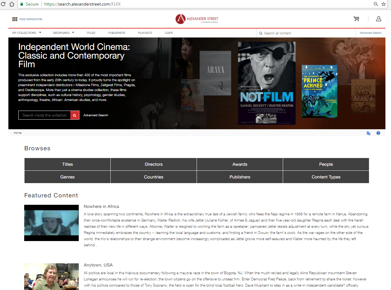 Independent World Cinema: Classic and Contemporary Film Screenshot