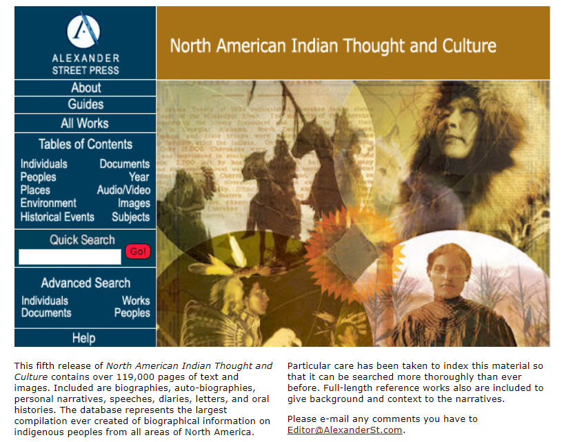 North American Indian Thought and Culture Brochure Cover