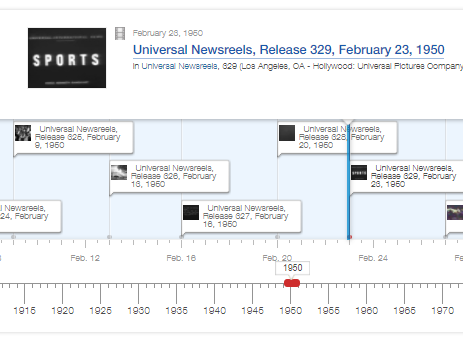 Browse Newsreels Timeline