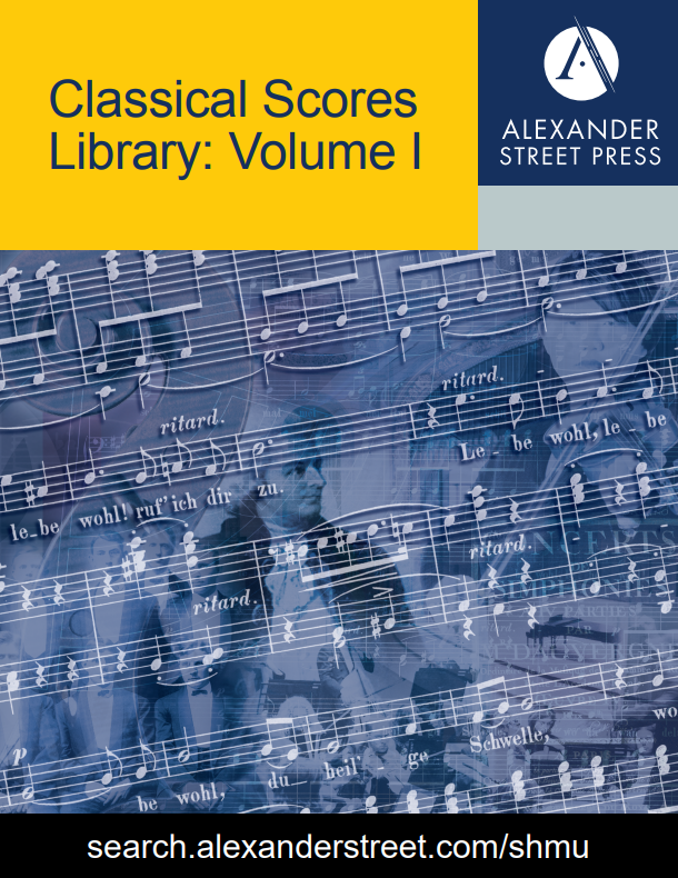 Music Online: Classical Scores Library, Volume I