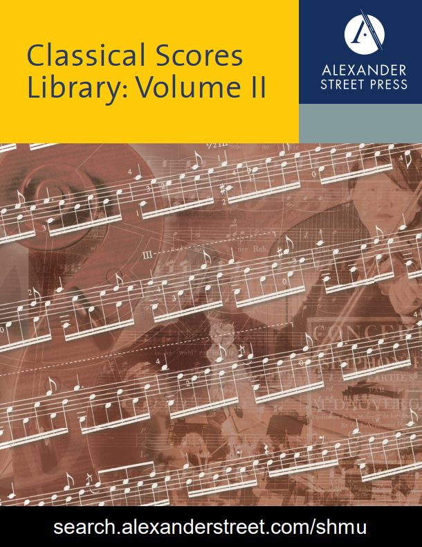 Music Online: Classical Scores Library, Volume II