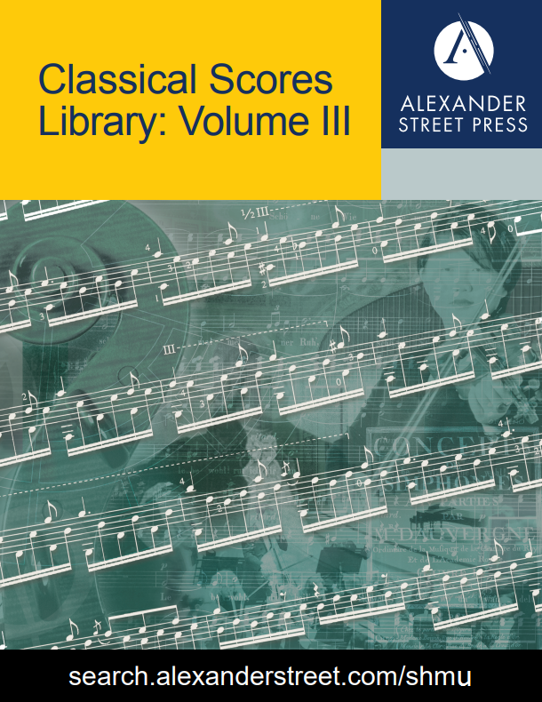 Music Online: Classical Scores Library, Volume III