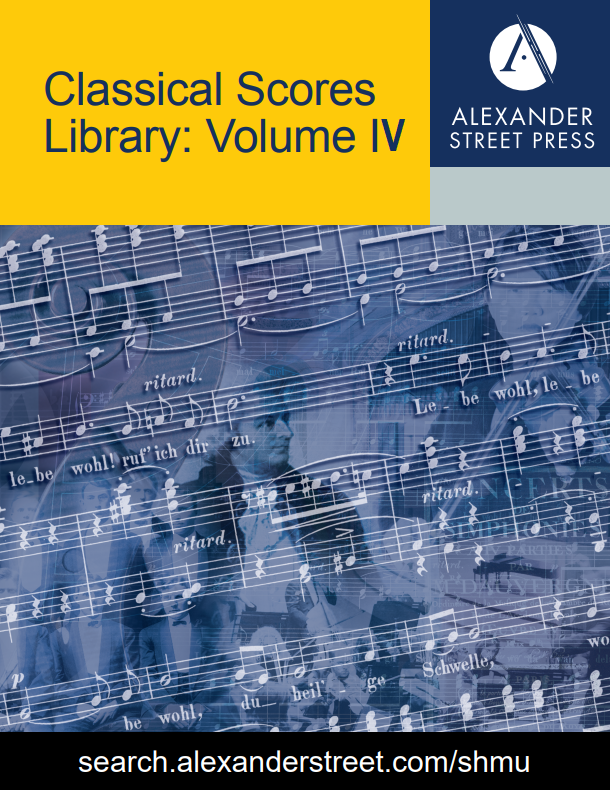 Classical Scores Library: Volume IV brochure cover