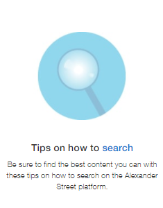 Tips on how to search