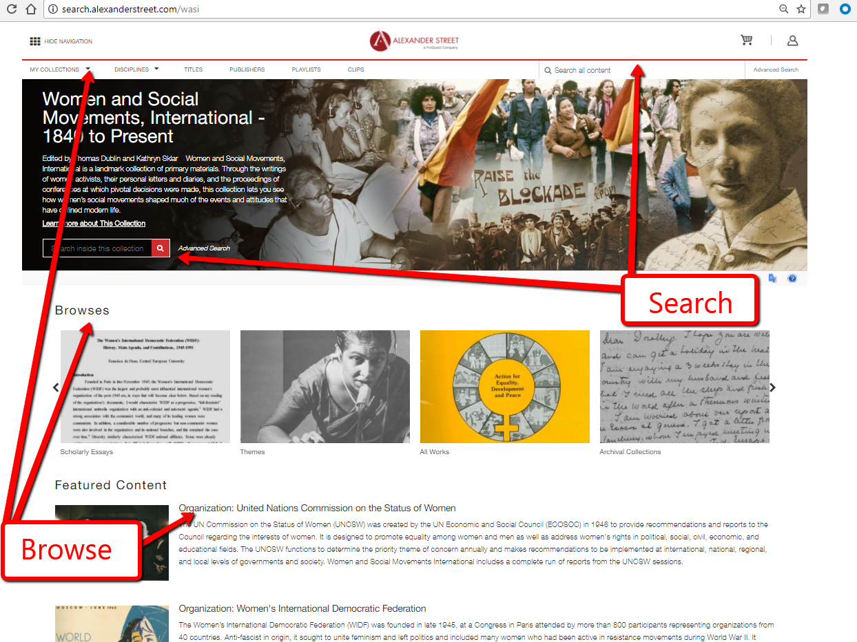 Women and Social Movements, International - 1840 to Present Screenshot