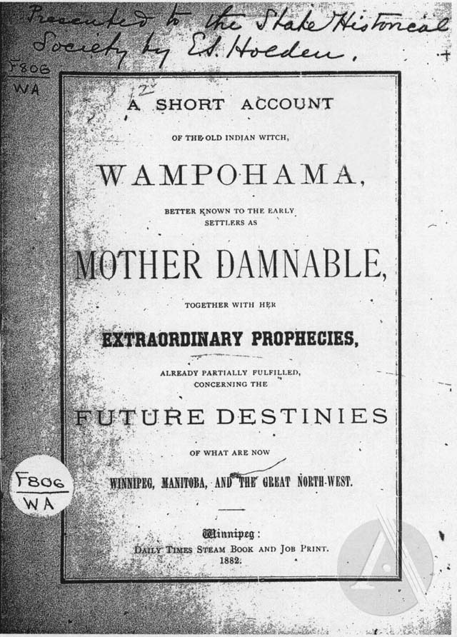 A Short Account of the Old Indian Witch, Wampohama, Better Known to the Early Settlers as Mother Damnable