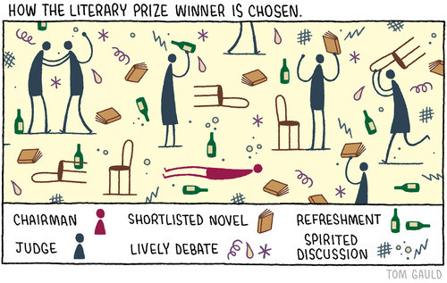 how the literary prize winner is chosen by tom gauld