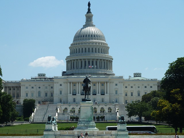 The Capitol Building, where Congress meets.