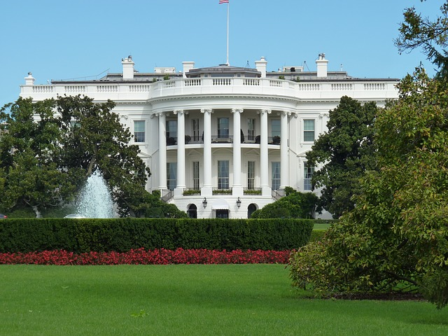 The White House, residence of the President.
