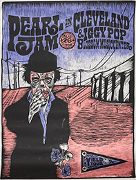 Pearl Jam and Iggy Pop in Cleveland handbill