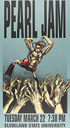 Pearl Jam at Cleveland State University handbill