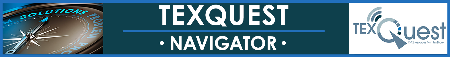 TexQuest Navigator Banner, compass and TexQuest logo