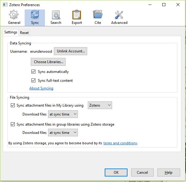 Open the Preferences dialog box and sync your accounts.