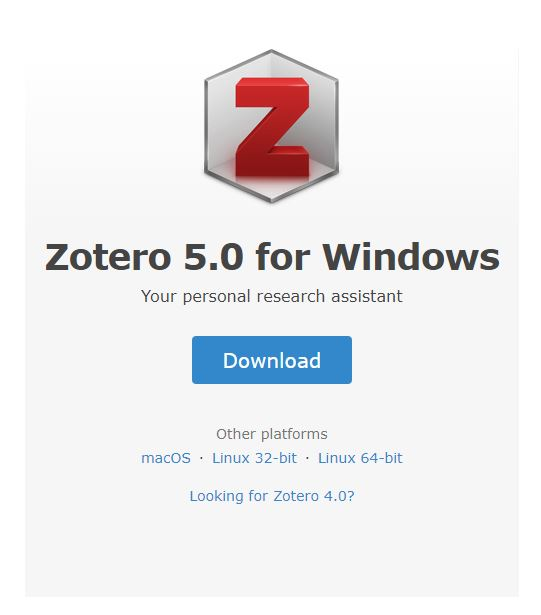 Download Zotero 5.0