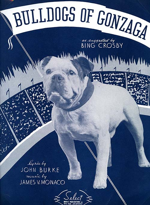"""Bulldogs of Gonzaga"" sheet music, 1937"