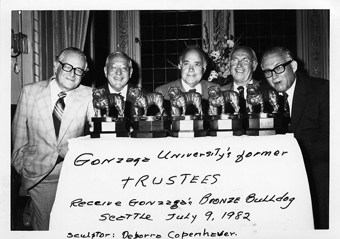 Former GU Trustees receive Bronze Bulldog Awards, 1982