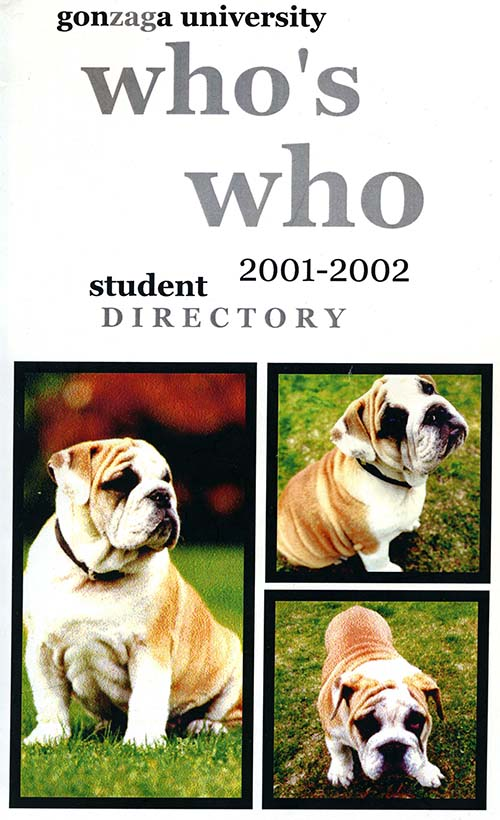 """Who's Who Directory"" with ""Q"", the bulldog, 2001"