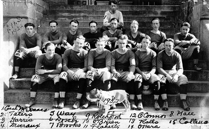 "Gonzaga's first ""Bulldog"" football team, 1922"