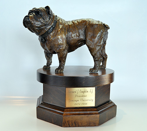 Bronze Bulldog awarded to President Bernard Coughlin, S.J., 1981