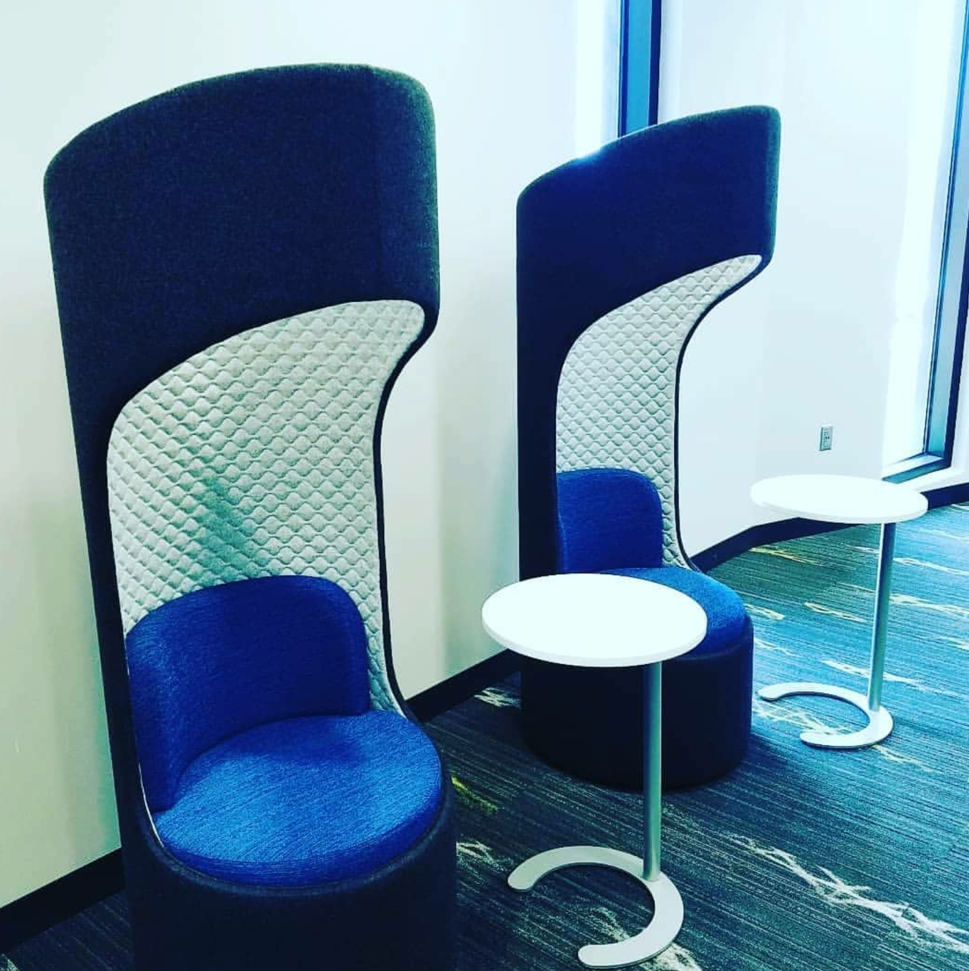 Pod chairs in RTP library.