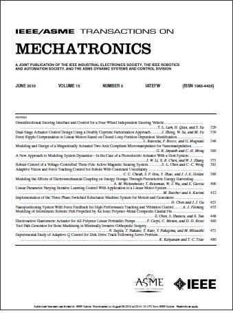 IEEE/ASME Transactions on Mechatronics