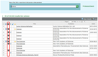 Screenshot of Ulrichs web database