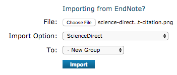 import into endnote science direct