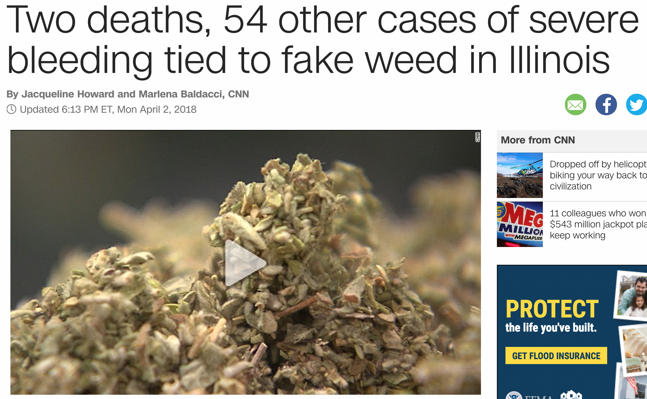 two deaths, 54 other cases of severe bleeding tied to fake weed in illinois,