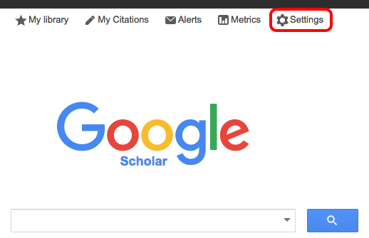 "Select ""settings"" on google scholar"
