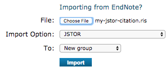 import a jstor ris file to endnote