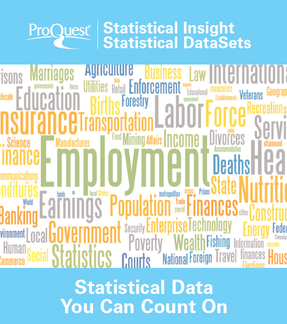 ProQuest Promotional Poster - Statistical Insight